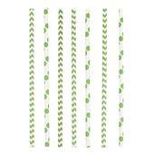 Slamky papierové Chevron&Dots kiwi zelené