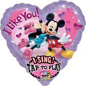 Spievajúci balón Mickey a Minnie
