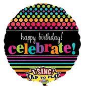 """Spievajúci fóliový balón """"Celebrate"""""""