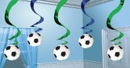 Špirálová visiaca dekorácia football