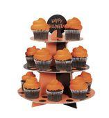 Stojan na košíčky a muffiny oranžovo čierny