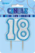 Sviečka 18 modrá