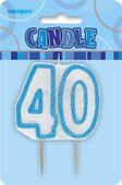 Sviečka 40 modrá