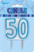 Sviečka 50 modrá