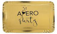 Tácka Apéro Party metalická zlatá