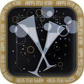 Tanier štvorcový Bubbly New Year