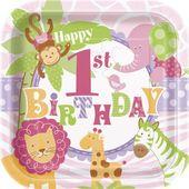 Tanierik 1.narodeniny pink Safari