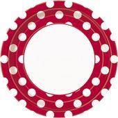 Tanierik červené bodky