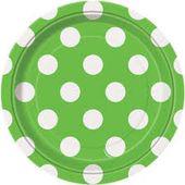 Tanierik malý limetkové bodky