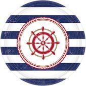 Tanierik námornícka party 18cm