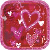 Tanierik Painted Hearts Veľký