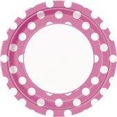 Tanierik ružové bodky
