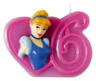 Tortová sviečka Disney Princezné, číslo 6