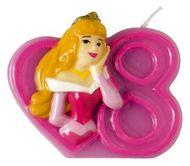 Tortová sviečka Disney Princezne, číslo 8