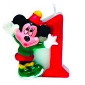 Tortová sviečka Mickey, číslo 1