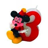 Tortová sviečka Mickey, číslo 3