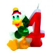 Tortová sviečka Mickey, číslo 4