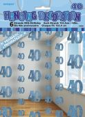 Visiace dekorácie glitz 40 modré