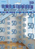 Visiace dekorácie glitz 50 modré