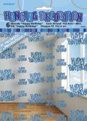 Visiace dekorácie glitz HB modré