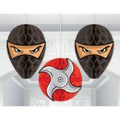 Visiace dekorácie Ninja rozetky