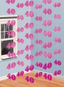 Visiace dekorácie ružové 40