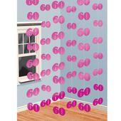 Visiace dekorácie ružové 60