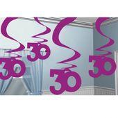 """Visiace špirály """"30"""" pink"""