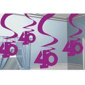 """Visiace špirály """"40"""" pink"""