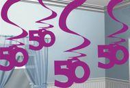 """Visiace špirály """"50"""" pink"""