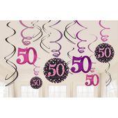 Visiace špirály 50 Pink Diamonds