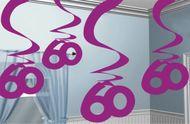"""Visiace špirály """"60"""" pink"""