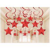 Visiace špirály červené hviezdy