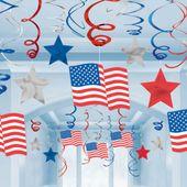 Visiace špirály Happy 4th July