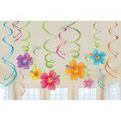 Visiace špirály Hawaiské kvety