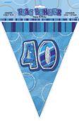Vlajočky 40. narodeniny Glitz blue