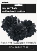 Mini pompónové gule čierne
