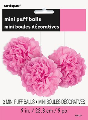 Mini pompónové gule hot pink