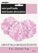 Mini pompónové gule baby pink