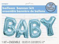 Balónový banner Baby modrý