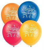 Balóny Brilliant Birthday 8 ks