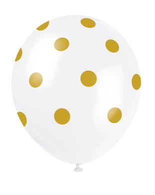 Balóny zlaté bodky