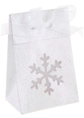 Darčeková krabička s vločkou biela