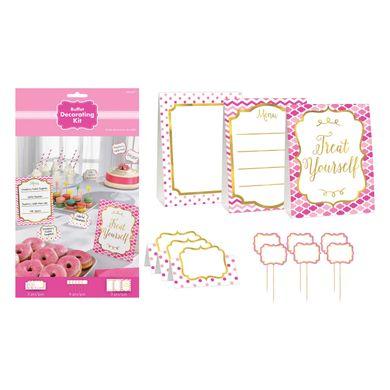 Dekoračný set Candy Bar ružový