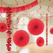 Dekoračný set miestnosti červený