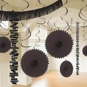 Dekoračný set miestnosti čierny