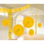 Dekoračný set miestnosti žltý