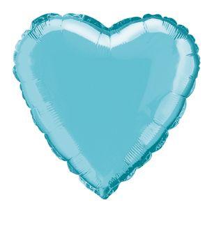 Fóliový balón srdce baby blue