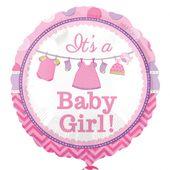 Fóliový balón Baby It's a Girl