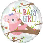 Fóliový balón Baby Koala Girl